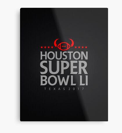 Super Bowl LI 2017 horns blk Metal Print