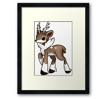 Winter Sawsbuck Framed Print
