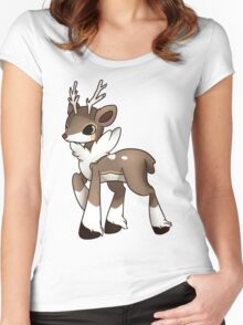 Winter Sawsbuck Women's Fitted Scoop T-Shirt