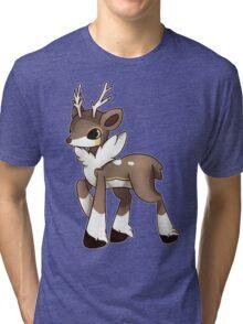 Winter Sawsbuck Tri-blend T-Shirt