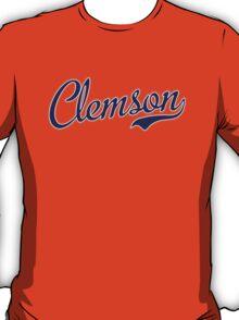 Clemson Blue Script  T-Shirt