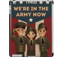 1940s Style  Army Poster iPad Case/Skin