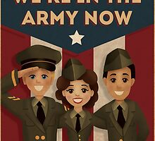 1940s Style  Army Poster by Kelly Street