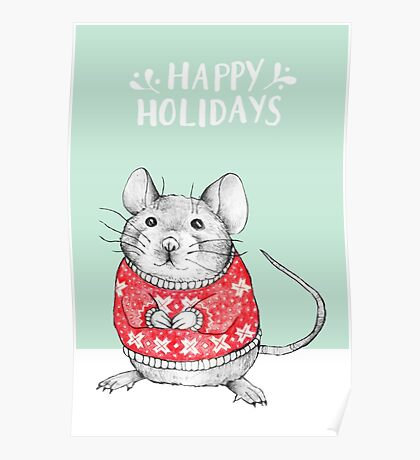 A Festive Mouse Poster