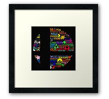 All Things Smash (Final Roster) Framed Print