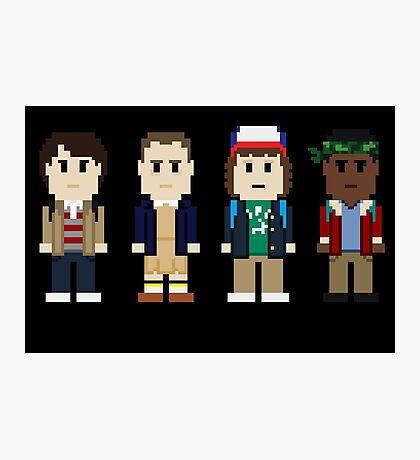 8-Bit Stranger Kids Photographic Print