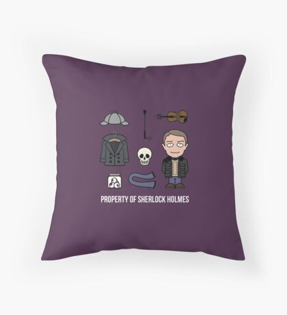 Property of Sherlock Holmes (pillow or bag) Throw Pillow