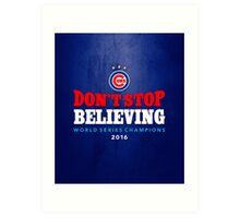 Chicago Cubs Believing Art Print