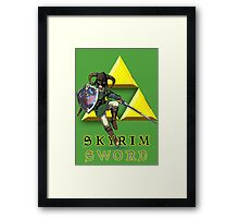 Skyrim Sword Framed Print