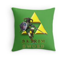 Skyrim Sword Throw Pillow