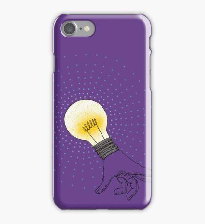 Runaway Idea lightbulb hand iPhone Case/Skin
