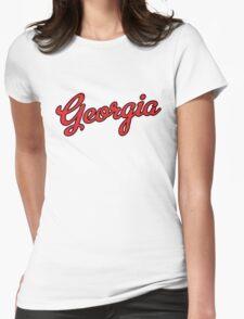 Georgia Script Red Black Outline T-Shirt