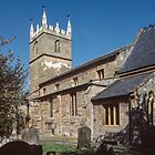 South side of church Fladbury England 198405140011 by Fred Mitchell