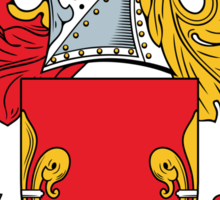 Robins Coat of Arms (English) Sticker