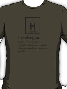 Anthropomorphic Definition of Hydrogen T-Shirt