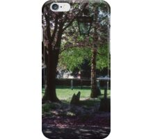 Churchyard with graves Fladbury Church England 198405140020  iPhone Case/Skin