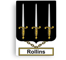 Rollins Coat of Arms (English) Canvas Print