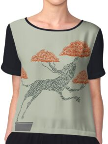 Bonsai Lion Escapes Women's Chiffon Top