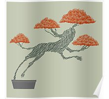 Bonsai Lion Escapes Poster