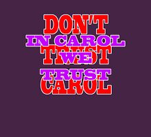 IN CAROL WE TRUST Womens Fitted T-Shirt