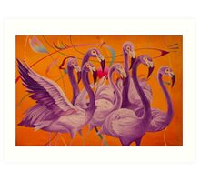 Purple Flamingo Art Print