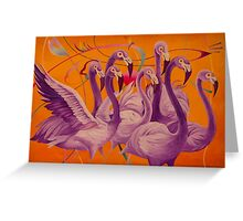 Purple Flamingo Carte de vœux