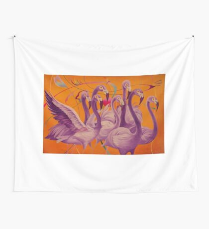 Purple Flamingo Wall Tapestry