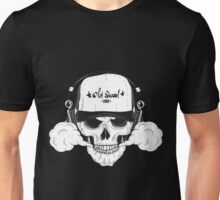 Skull with modern street style attributes Unisex T-Shirt