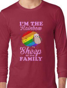 rainbow sheep family Long Sleeve T-Shirt