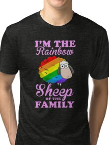 rainbow sheep family Tri-blend T-Shirt
