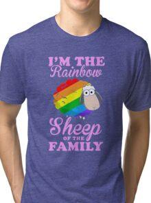 rainbow sheep family Tri-blend T-Shirt