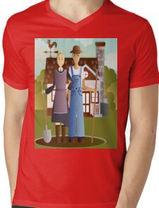 Farming in KRICKET KOUNTRY.....Life's good!   Life's sweet! Mens V-Neck T-Shirt