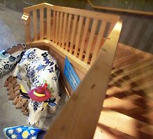 Cow at the Foot of the Stairs by Nadya Johnson