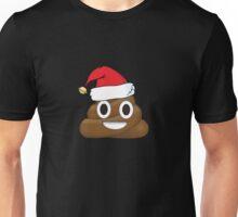 Funny Santa Claus Christmas Poop Emoji Unisex T-Shirt