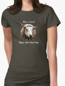 Baby Don't Herd Me Sheep Womens Fitted T-Shirt