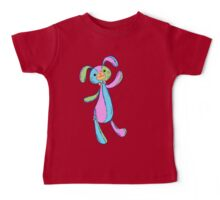 Patchwork Stuffed Bunny in Pastels Baby Tee