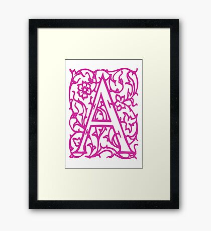 Just the letter A Framed Print