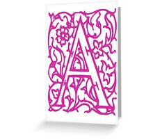 Just the letter A Greeting Card