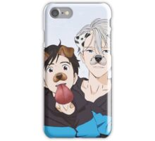 viktor and yuuri snapchat filter iPhone Case/Skin