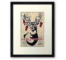 Rudolph the red-nosed reindeer Framed Print