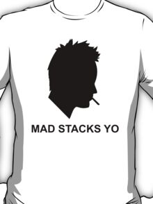 Jesse Pinkman Aaron Paul Mad Stacks Yo Breaking Bad White T Shirt S 5XL (Mens) and S 2Xl (Womens) T-Shirt