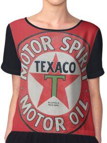 Vintage Texaco Motor Spirit Logo  Chiffon Top