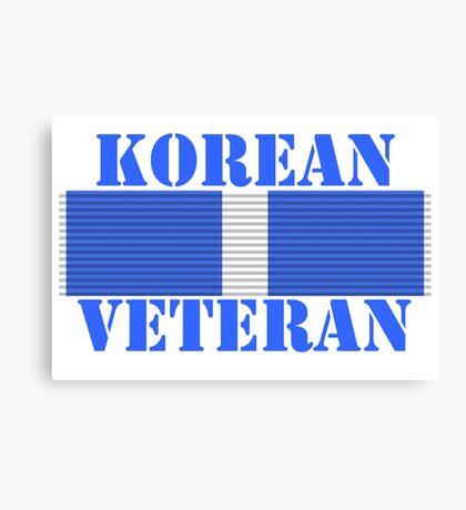 Korean Veteran Canvas Print