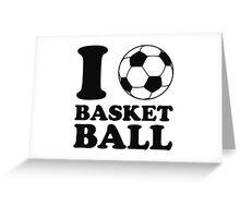 I Love Soccer Ball Basketball Greeting Card