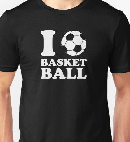I Love Soccer Ball Basketball Unisex T-Shirt