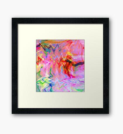 Ribbon Dance Framed Print