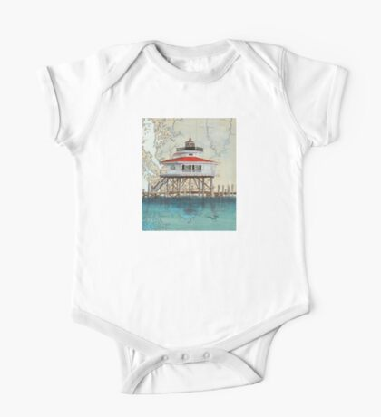 Choptank River Lighthouse MD Nautical Cathy Peek One Piece - Short Sleeve