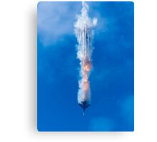A Jet with Flare Canvas Print