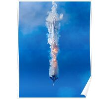 A Jet with Flare Poster