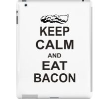 Keep Calm and Eat Bacon T-Shirt Funny Parody Meat TEE Food Pig Hog Breakfast iPad Case/Skin
